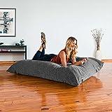 Jaxx Bean Bags Jaxx Floor Pillow Bean Bag Lounger with Chenille Cover Grey