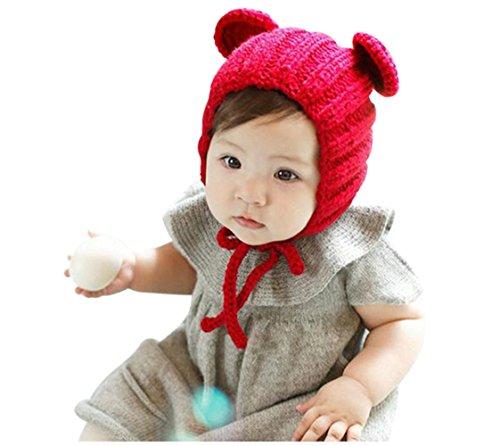 Knuffel Unisex Baby Jongens Meisjes Mooie Beer Gebreide Gehaakte Winter Hoed Kostuum Foto Hoed Cap Beanie Geschenken