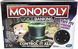 MONOPOLY MEETS VOICE RECOGNITION: In this electronic Monopoly Voice Banking game, Mr Monopoly is the Banker and manages the players' money via his top hat TALK, MR MONOPOLY LISTENS: Press the button, and say a command like, 'Pay Rent on Piccadilly'; ...