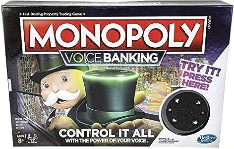 Hasbro Gaming- Monopoly Voice Banking Electrónico Juego de mesa familiar para edades de 8 y más, Idioma Inglés, Multicolor (E4816) , color/modelo surtido