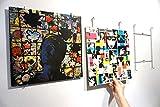 Vinyl-Waller Marco para vinilo: 1 soporte mural para álbum de vinilo de 33 rpm, 30,5 cm, crea tu decoración con discos y cambia la imagen en un abrir y cerrar de ojos