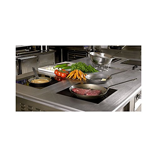 Product Image 1: Adcraft Matfer Bourgeat 062003 Black Steel Round Frying Pan, 10 1/4-Inch, Gray