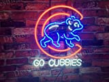 Desung Brand New 20'x16' Chicago Cub Go Cubbies Neon Sign (Various sizes) Beer Bar Pub Man Cave Business Glass Neon Lamp Light DB95