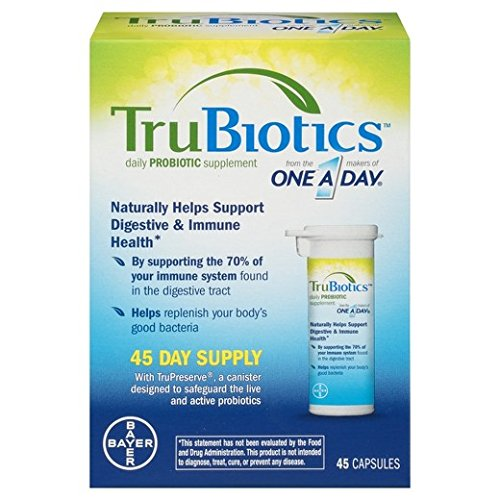 TruBiotics Daily Probiotic Supplement, Value 2 Pack ( 45 Count Each )