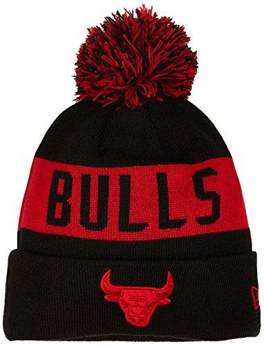 New Era Tonal Knit Chicago Bulls Offical Team Colour Bonnet Homme, Noir, FR Unique (Taille Fabricant : OSFA)