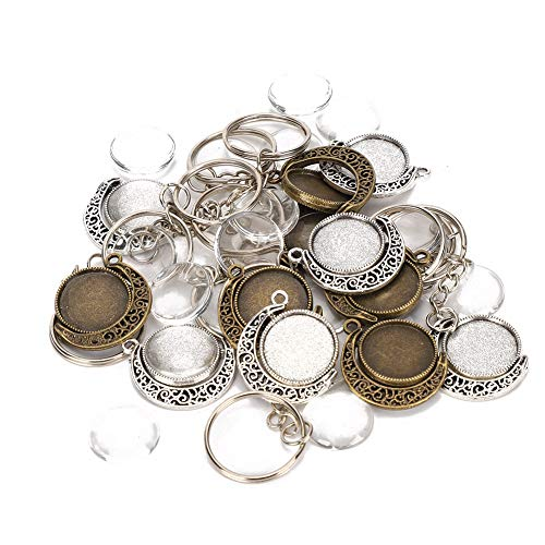 【𝐕𝐞𝐧𝐭𝐚 𝐑𝐞𝐠𝐚𝐥𝐨 𝐏𝐫𝐢𝐦𝐚𝒗𝐞𝐫𝐚】 Base colgante giratoria de cúpulas de vidrio, herramienta de bricolaje para joyería, para joyeros Amantes de la joyería Amantes del bricolaje Niñas