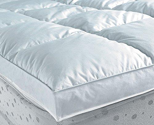 Nordiko - Topper Plumon 2000 gr/m2 Cama de 180, tamaño 180/200 cm, Color Blanco
