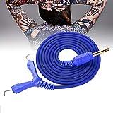 Cable de tatuaje, Línea de tatuaje, Tatuaje con cable Gel de silicona, Cable adaptador de máquina de tatuaje, Cable de clip de tatuaje para máquina de tatuaje Fuente(azul)