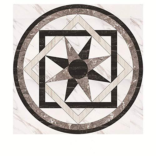 DHHY Europäische Art Boden Diagonale Fliesen Aufkleber Wanddekoration Tapete Küche Bad DIY wasserdichte Und Antifouling-Folie PVC Selbstklebende Tapete 30Pcs