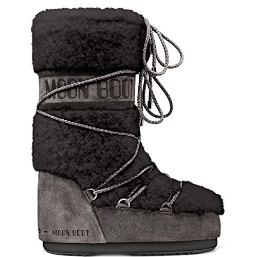Unisex Adults Tecnica Moon Boot Classic Premium Wool Winter Warm Boots - Anthracite - 8-9.5