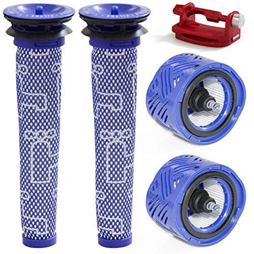 Juego de 2 filtros de repuesto compatibles con Dyson V6 Absolute, V6 Mattress, V6 Fluffy, V6 Motorhead Cordless Vacuum Cleaner