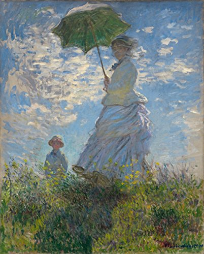 Gifts Delight Laminated 24x29 Poster: Claude Monet - Woman with a Parasol - Madame Monet and Her Son