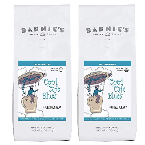 Barnie's Decaf Cool Cafe Blues Caramel, Maple, & Rum Flavored Ground Coffee