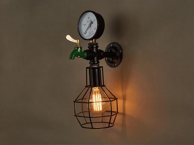 WQBD Retro Wandleuchte LOFT Licht Gang Kreative Wand Lampe American Industrial Restaurant Bar Bar Eisen Wand Lampe E27
