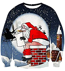 naughty ugly Christmas sweater ideas Santa pooping down a chimney