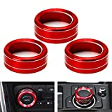 iJDMTOY 3pcs Red Anodized Aluminum AC Climate...