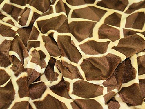Minerva Crafts Polyester-Velboa-Stoff mit Tiermuster, große Giraffe, Meterware