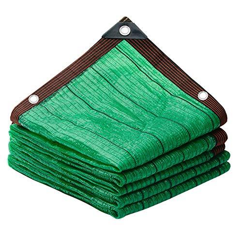 BRFDC Sombra Solar Malla 80% de protección Solar Verde paño de la Cortina del Patio al Aire Libre Balcón sombreado netas 23 Tamaños (Color : Green, Talla : 8x10m)