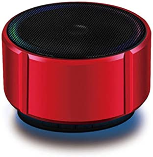 MINGTAI Bluetooth Speaker Mini Bluetooth Audio Metal Subwoofer Wireless Card Cannon Mobile Phone Audio Game Audio (Color : Upgraded red)