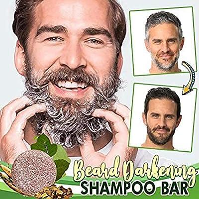 HEREB Shampoo Beard Darkening Shampoo Bar Beard Wash Bar Hair Darkening Shampoo Soap for Men from HEREB