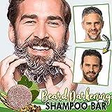 NIVNI Shampoo, Bart Verdunkelung Shampoo Bar Bart Waschbar Haar Verdunkelung Shampoo Seife für...