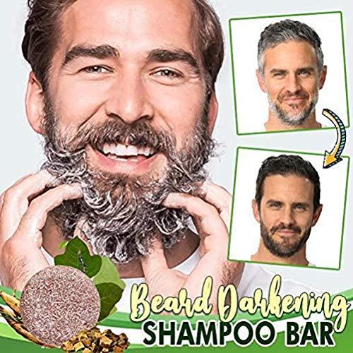 LifeBest Barba Shampoo Oscurante Bar Barba Barba Shampoo Oscurante Capelli Sapone per Uomo Dolce, Sicuro, Efficace | Facile da Lavare con Acqua e Sapone