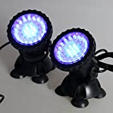 petsola Bunt LED Aquarium Beleuchtung Unterwasser Strahler Garten Teich Lampe - Bunt 1