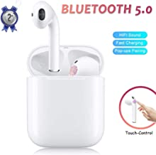 Diaoyubea Bluetooth Headset 5.0, Wireless Earbuds, Waterproof Noise Reduction Sports Headphones, Built-In Microphone 3D Stereo Headphones for Android Ios, Compatible with all Bluetooth-enabled Devices