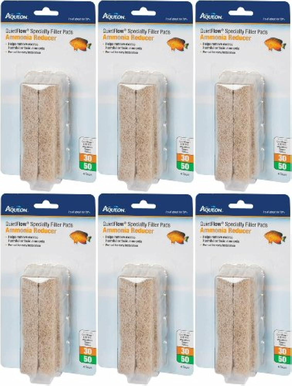 Aqueon QuietFlow Ammonia Reducer 30 50 Specialty Filter Pads, 24ct (6 x 4ct)