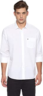 Allen Solly Men's Printed Slim Fit Casual Shirt (ASSFWSPFT51367_White_42)