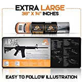 IRONCLAD AR 15 Gun Cleaning Mat Non-Slip and Spill-Proof Gun Mat for Rifle, Pistol, Shotgun...