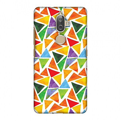 Amzer Slim Fit Handcrafted Designer Printed Snap On Hard Shell Case Back Cover with Screen Cleaning Kit Skin for Lenovo K8 Plus - Bold Shapes HD Color, Ultra Light Back Case