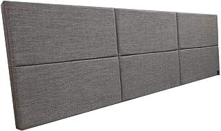 Cabeceira Estofada Casal Bloco Alce Couch Linho Cinza 140cm