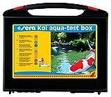 sera 07715 KOI Aqua-Test Box Testkoffer für den Teich mit 10 verschiedenen Wassertest pH, GH, KH, NH3/NH4, NO2, NO3, PO4, Fe & Cu Teichwasser Testen für Fortgeschrittene schnell, genau, professionell