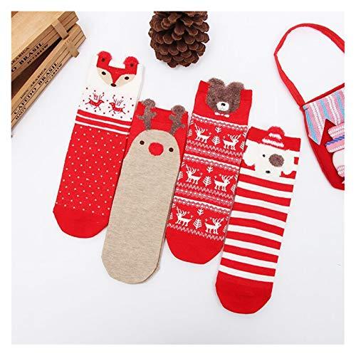 Medias de Navidad Navidad algodón de las mujeres Calcetines Imprimir grueso antideslizante...