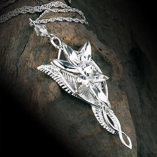 Grimbatol il signore della collana del pendente Anelli Regina degli Elfi Arwen Stella del Vespro, la collana per le donne