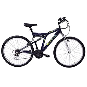 Mountain Bikes Arden Peak 26″ Wheel Dual Full Suspension 21 Speed Mountain Bike 19″ Frame Blackcurrant [tag]