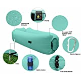 Legit Camping Inflatable Lounger with Carrying Bag & Pockets for Indoors/Outdoors - Inflatable Couch & Air Chair with Headrest & Securing Stake for Camping Beach or Pool