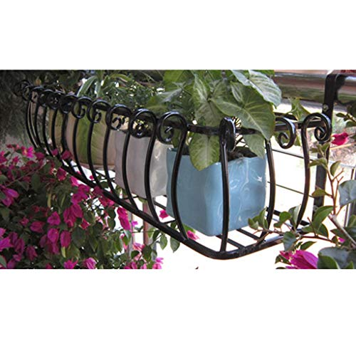 YUEXIN Blumentopfhalter für den Balkon,Pflanzgefäße zum Aufhängen, Blumenregal aus Eisen,Fenster grün Pflanzbecken Regal, Blumen-Topf-Gestell-Geländer-Zaun im Freien, Garten