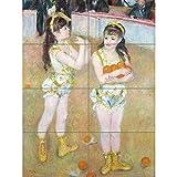 Artery8 Renoir Acrobats Cirque Fernando Wartenberg Sisters Painting XL Giant Panel Poster (8 Sections) Krieg Gemälde
