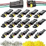 Zuzer 15 Kit Coche Impermeable Conector 2 3 4 Pin Conector Eléctrico 1.5mm Serie PA66 Nylon Conectores Sellado para Coche Motos