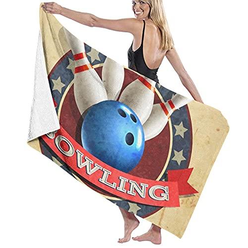 Toallas Bowling Deporte Bola Patrón 3D Impresión suave Toallas de viaje Deportes Baño Toalla para Dormitorio Natación Yoga 80*130 cm