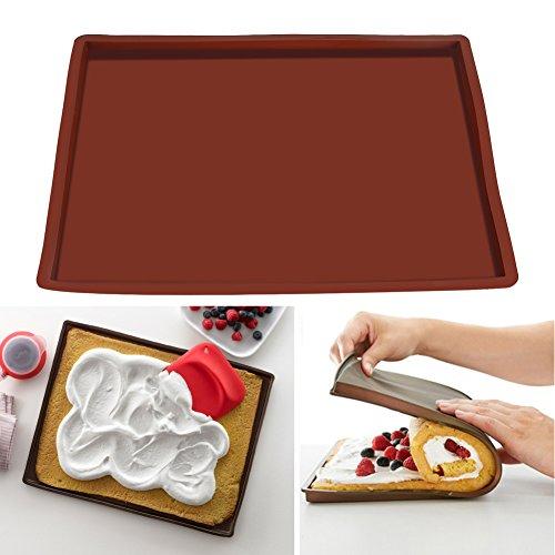 【Cadeau de Noël】Tapis de cuisson en silicone pour pâte à rouler la pâtisserie, tapis de rouleau à gâteau, plaque de cuisson antiadhésive pour four résistant à la chaleur
