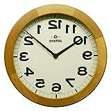 さんてる 掛け時計 ライトブラウン 直径330×45mm 脳トレ! 木製逆転掛け時計LBR (ライトブラウン) QL889-LBR