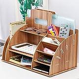 YzDnF Sistemi di smistamento Posta File Office Desktop Storage Box Shelf Creativo Bookshelf Informazioni ripiano Legno E Display Rack (Color : B, Size : 33x25x19cm)