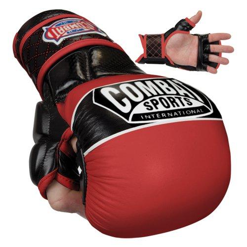 Combat Sports Max Strike MMA Training Gloves (Blue, Large)