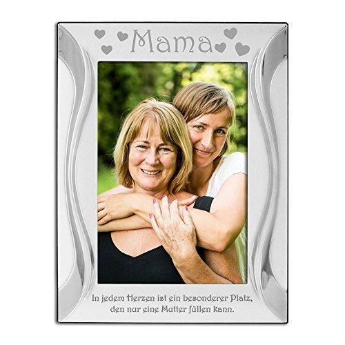 """Mama, Mutter, Bilderrahmen, Versilbert, Silber, """"Mama"""" ist oben am Rahmen eingraviert und """"In jedem Herzen ist ein besonderer Platz, den nur eine Mutter füllen kann"""" ist unten eingraviert. Mutter Mama Geburtstagsgeschenk, Mum, Special Place"""