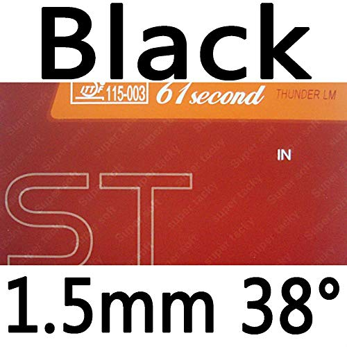 Lowest Price! 61second LM ST (Super Soft & Super Tacky) Pips-in Table Tennis (Ping Pong) Rubber with...