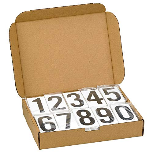 Placard Vinyl Numbering Kit - 3.5'H Permanent Adhesive Clear-Back Vinyl with Black Numbers - 50 Decals of Numbers 0-9, 500 Total Per Kit - Complies with DOT Regulations - J. J. Keller & Associates