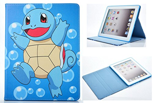 For iPad 10.5/10.2 / Air 3 Pokemon Squirtle Pikachu Anime Manga Smart Stand Case Cover